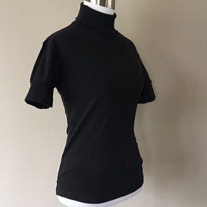 Tee Shirt Golf Small Black Turtleneck